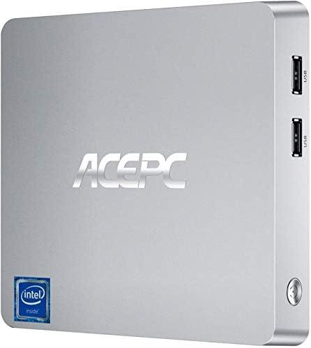 ACEPC T11 Mini PC, 4GB DDR3, 64GB eMMC, Windows 10 Pro Mini Desktop Computer with Intel Atom Z8350 Processor, Support Dual Display, 4K HD, Bluetooth 4.2, Gigabit LAN, Dual Band WiFi