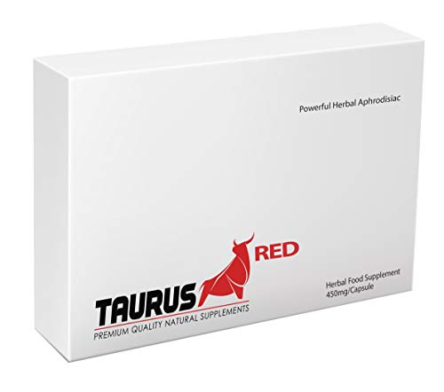 NEW Taurus Red - (10 Capsule Pack) 100% Natural Herbal Sexual Performance...