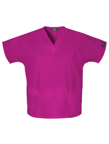 Large Azalea - Cherokee Women's V-Neck Scrub Top, Azalea, XX-Large