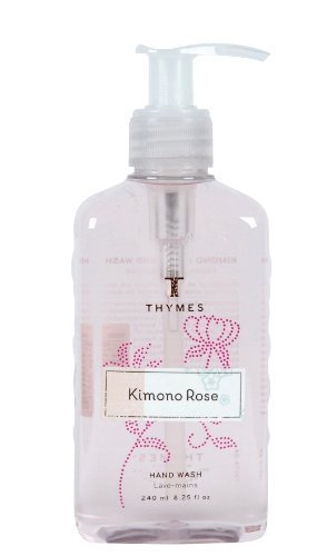 (Thymes Hand Wash, Kimono Rose, 8.25 ounce Pump Bottle)
