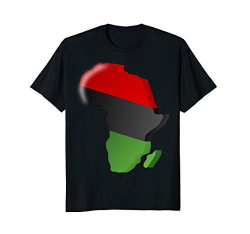 Pan African T-Shirt Unia Flag Map Continent (Africa Map T-shirt)