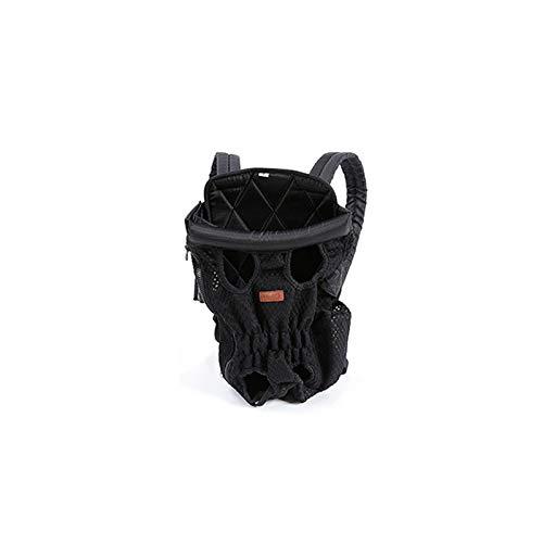 D L48x32x2cm D L48x32x2cm Pet Dog Backpack Tote Handbag Breathable Nylon Mesh Cat Carrier Front Bag Sling Shoulder