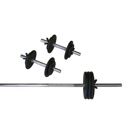AMBER Sports 160-Pound Threaded Weight Set