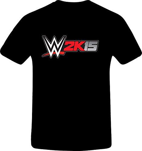 W 2k15 Wrestling - Best Quality Costum Tshirt (4XL, BLACK) (Best N64 Wrestling Games)