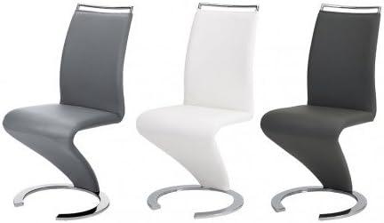 Lot de 2 chaises TWIZY Simili Noir: : Cuisine