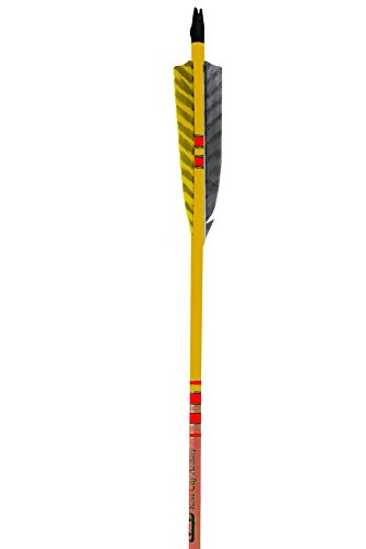 Rose City Archery Port Orford Cedar Extreme Elite Arrows with Mahogany Lacquered Stain Shaft, 3