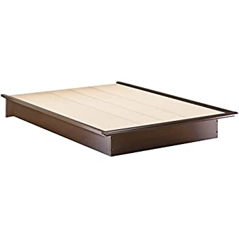 south shore furniture step one collection queen platform bed chocolate