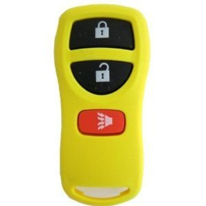 CanadaAutomotiveSupply © - 1 New Keyless Entry YELLOW 3 Button Remote Car Key Fob for Select Nissan Infiniti KBRASTU15 5828