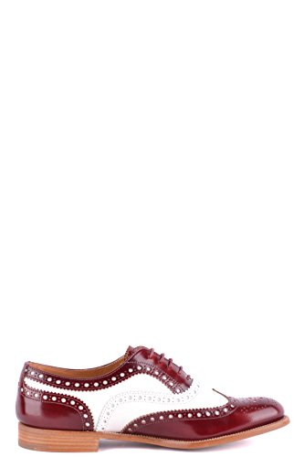 Shoes MCBI069130O Lace Red Church's up Leather Women's w87HHxqv