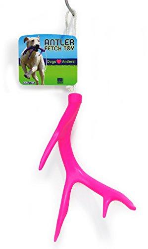 Bone-A-Fide Antler Fetch Toy (Pink)