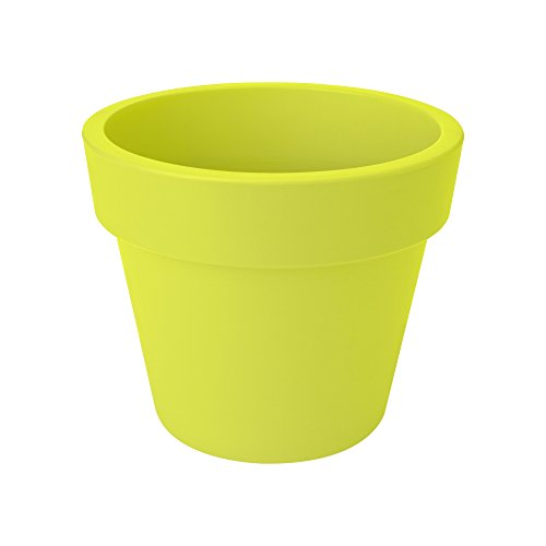 Elho Flower Pot Basics top Planter 47cm in Lime Green, 47x47x39.5 cm