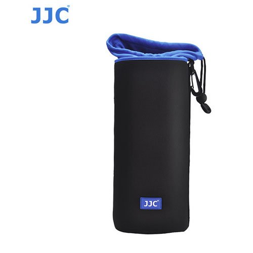 JJC NLP-13 Neoprene Lens Case For Canon 18-134mm 55-250mm 15-85mm 18-200mm Nikon 18-300mm 18-140mm 18-55mm 18-105mm Sony 18-55mm 55-210mm ith A&R Cleaning cloth by JJC