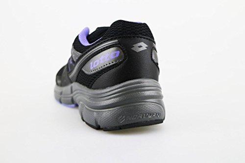 Cuero Textil Lotto Mujer U Sneakers Negro 36 Ag137 AqwB7xItwr