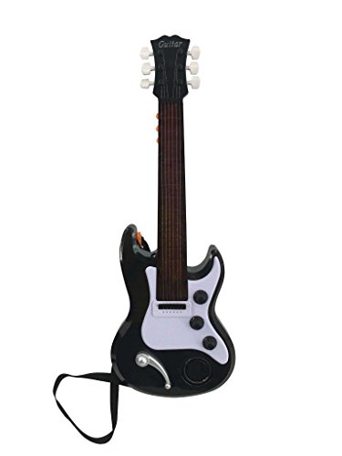 Halloween Songs Acoustic Guitar (Lightahead 389-7 22 Inch Electronic Guitar For Little Rock Stars Electric Guitar With Preset Music And Vibrant Sounds Fun Musical)