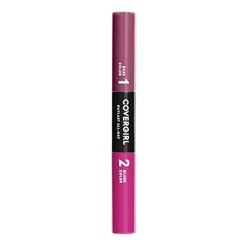 COVERGIRL Outlast All-Day Color & Lip Gloss, Rose Delight, 0.2 Ounce (packaging may vary)