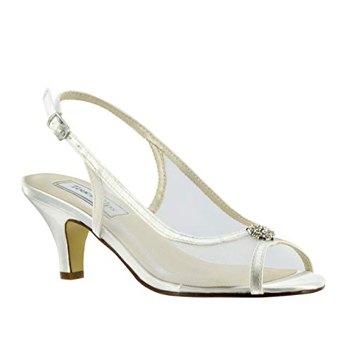 Benjamin Walk Touch Ups by Elite Women US 7.5 White Slingback Heel
