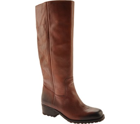 Lucky Brand Womens Aleid Leather Almond Toe Mid-Calf Fashion Boots Dark Rust Rv94n