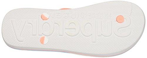 Superdry Aop - Sandalias de dedo Mujer Multicolore (Optic/Candy Coral/Pastel Palm Print)
