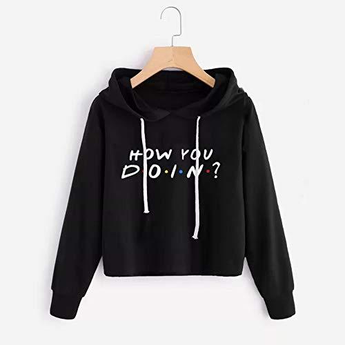 Longues Shirt Mode Femme Noir Sweat Imprim AIMEE7 Tee Courte Capuche Blouse Chic Manches 5SIBCqzxwn