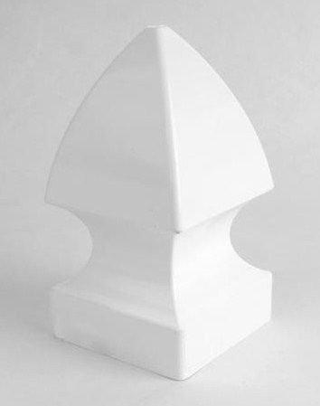 4 x 4 Gothic Vinyl Post Cap - White