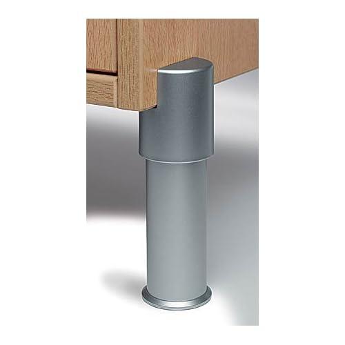 """1-5/8"""" Round Furniture Leg - 12"""" - L Plate"""