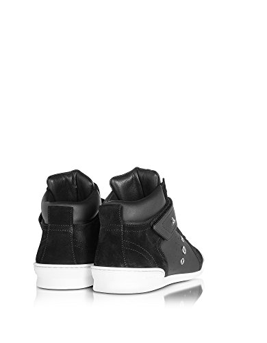 LEWISOCUSPORTCALFSUEDEBLACK Choo Jimmy Hi Black Men's Sneakers Top Leather AwwCqxB