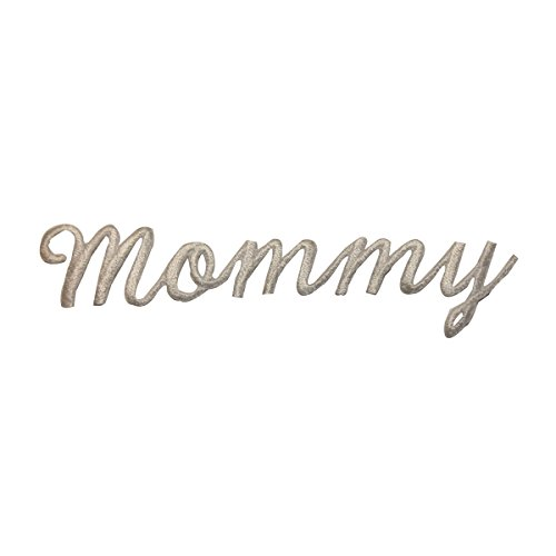 ID #3672 Mommy Letters White Ivory Iron On Applique Patch -