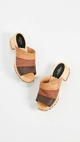 Brown Nubuck Color Women's Sandal Swedish Combo Hasbeens Mona Heeled vvXSq