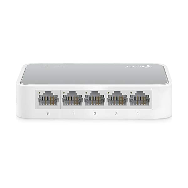 TP-Link 5 Port Fast Ethernet Switch | Desktop Ethernet Splitter | Ethernet Hub | Plug and Play | Fanless Quite…