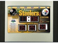 Pittsburgh Steelers Scoreboard Desk & Alarm Clock