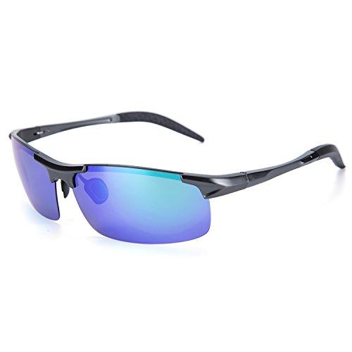 YJMILL New Polarized Sunglasses Retro Pilots Riding Fishing Golf Travel Sports Sunglasses Men And Women 8177-2 (green, 42) Review
