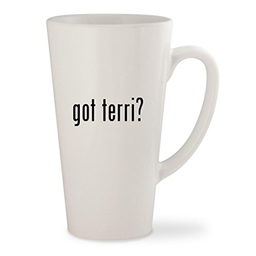 got terri? - White 17oz Ceramic Latte Mug - Terry Richardson Glasses