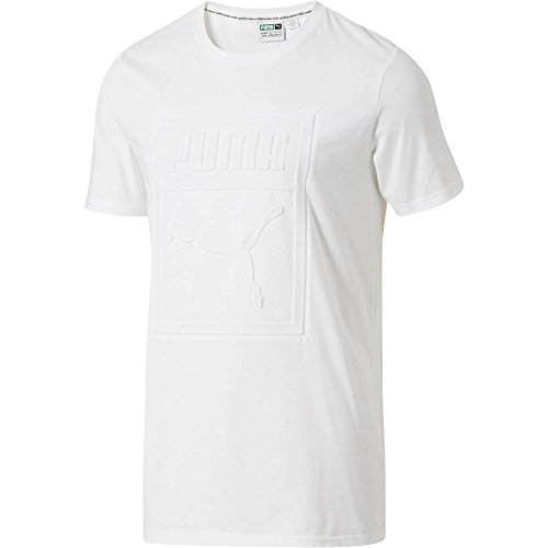 PUMA Men's Archive Embossed Logo T-Shirt, White, Large