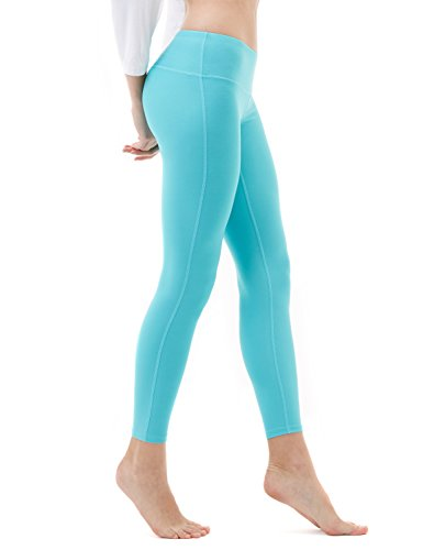 Tesla TM-FYP41-AQA_Medium Yoga Pants Mid-Waist Leggings w Hidden Pocket FYP41