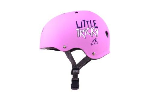 Triple Eight Little Tricky Dual Certified Sweatsaver Kids Skateboard and Bike Helmet, Pink Rubber