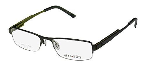 Ad.lib 3114 Mens/Womens Designer Half-rim Titanium Spring Hinges Eyeglasses/Eye Glasses (53-18-140, Khaki / Light Green) (Ad Lib Mens Eyeglasses)