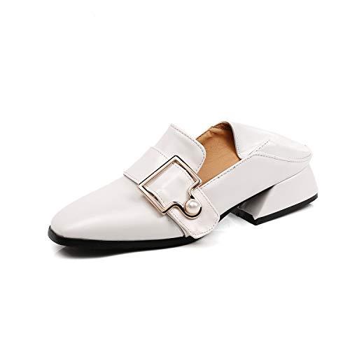 Bout Blanc Escarpins Femmes Carrée Misssasa 6ZxqfIwEW