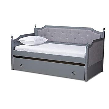 Amazon.com: Baxton Studio Mara - Sofá cama con cama nido ...