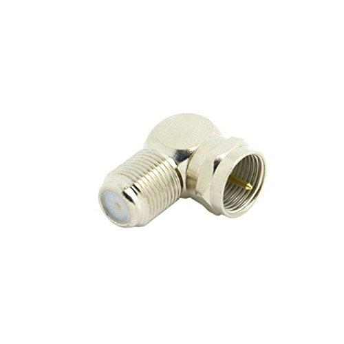 10pcs Coaxial Male COAX Plug to Female F-Jack Socket RF 90 D