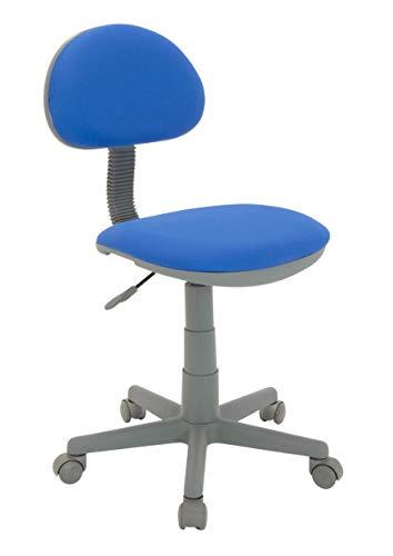 Calico Designs - Silla con Calidad de Lujo para Trabajo en Color Azul con Base Gris