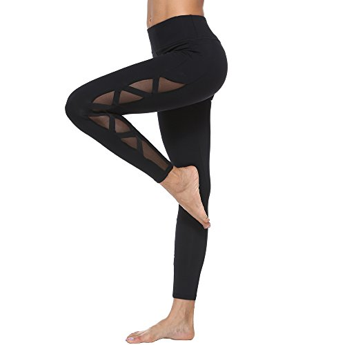 Electrasport Compression Slimming Leggings High Waist Side Mesh (med) Black
