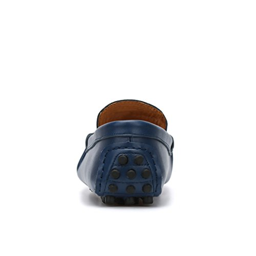 Hommes Occasionnels Chaussures Lumino Véritable Mocassins Mode 35~47 Fur Zapatos Grande Chaussures Appartements Mocassins Blue Taille Cuir Hommes Drivng qwXXx0rY