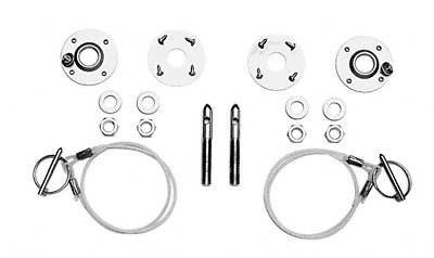 Ford Racing M16700A Stainless Steel Hood Latch and Pin - Stainless Kit Hood Steel