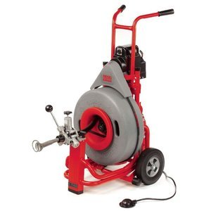 RIDGID 60052 K-7500 Drum Machine with C-100 3/4 Inch x 75 Foot Solid Inner Core Cable and AUTOFEED Control, Drain Cleaning Machine with Drain Auger
