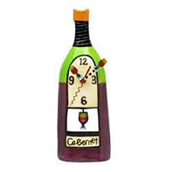 Allen Designs Wine Cabernet Standing Pendulum Clock