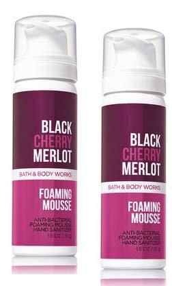 Bath and Body Works 2 Pack Black Cherry Merlot Foaming Hand Sanitizer 1.8 Oz