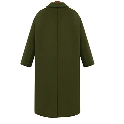 Abrigo Y Trench Grueso Darkgray Mujer Talla De Grande 1pcs Coat Para Largo Mei YAqFII