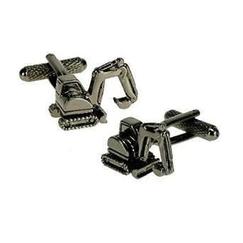 Premier Life Store. Onyx Art Metallic Crane Digger Cufflinks in a Gift Box CK515 ()