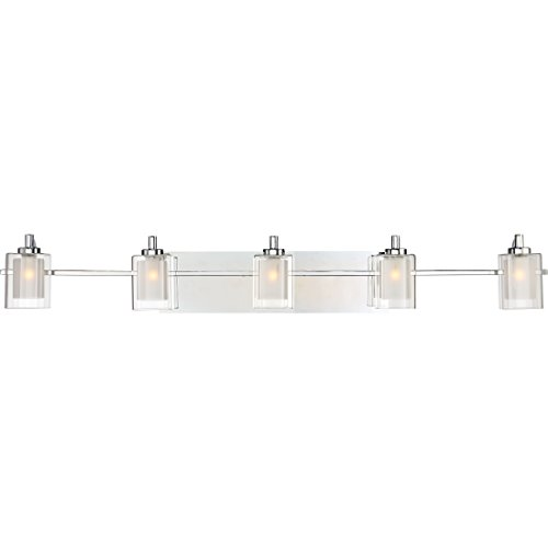 Quoizel KLT8605CLED Kolt 5-Light Bath Light, Polished Chrome (Fixture Chrome Bath Five Light)