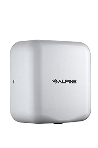 Alpine Hemlock Automatic Hand Dryer - Heavy Duty Stainless Steel - Commercial High Speed Hot Air Hand Blower | 1800Watts | 110-120Volts | Quick & Easy (Alpine Industries)